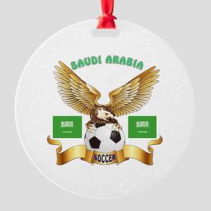 Saudi Arabia Football Design Round Ornament