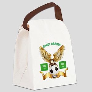 Saudi Arabia Football Design Canvas Lunch Bag