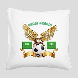 Saudi Arabia Football Design Square Canvas Pillow