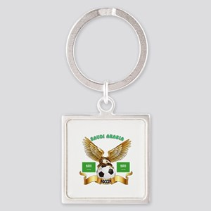 Saudi Arabia Football Design Square Keychain