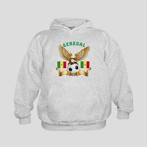 Senegal Football Design Kids Hoodie