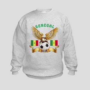 Senegal Football Design Kids Sweatshirt