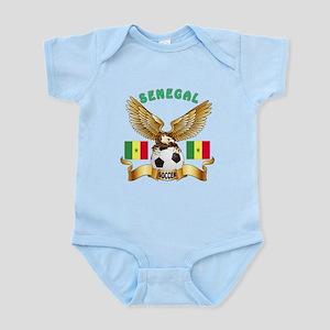 Senegal Football Design Infant Bodysuit