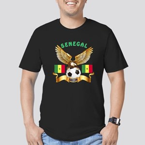 Senegal Football Design Men's Fitted T-Shirt (dark
