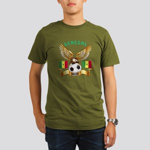 Senegal Football Design Organic Men's T-Shirt (dar
