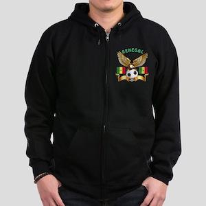 Senegal Football Design Zip Hoodie (dark)