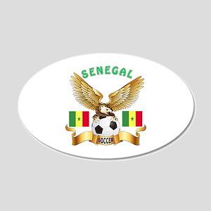 Senegal Football Design 20x12 Oval Wall Decal