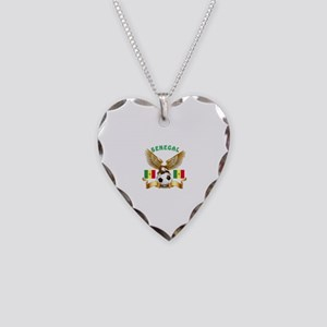 Senegal Football Design Necklace Heart Charm