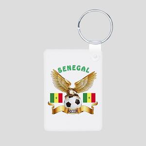 Senegal Football Design Aluminum Photo Keychain