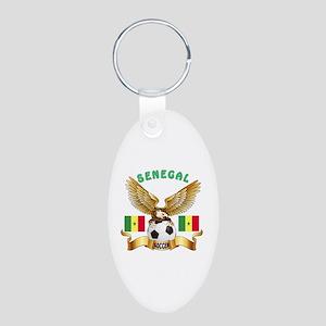 Senegal Football Design Aluminum Oval Keychain