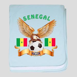 Senegal Football Design baby blanket