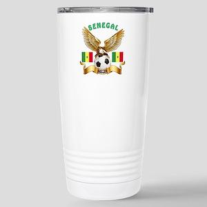 Senegal Football Design Stainless Steel Travel Mug