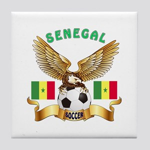Senegal Football Design Tile Coaster