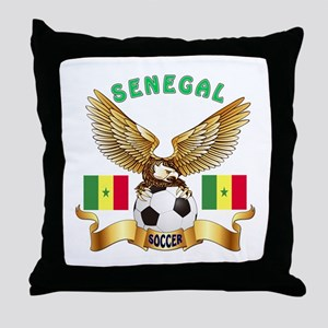 Senegal Football Design Throw Pillow