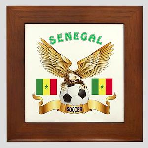Senegal Football Design Framed Tile