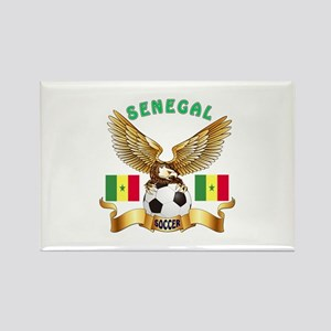 Senegal Football Design Rectangle Magnet