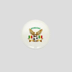 Senegal Football Design Mini Button