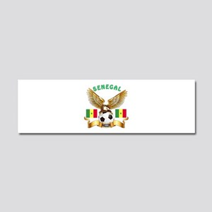 Senegal Football Design Car Magnet 10 x 3
