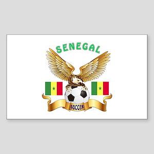 Senegal Football Design Sticker (Rectangle)