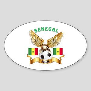 Senegal Football Design Sticker (Oval)