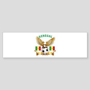 Senegal Football Design Sticker (Bumper)