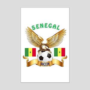 Senegal Football Design Mini Poster Print