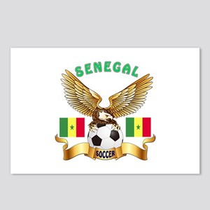 Senegal Football Design Postcards (Package of 8)