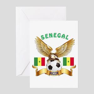 Senegal Football Design Greeting Card