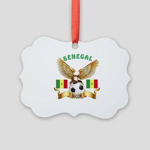 Senegal Football Design Picture Ornament