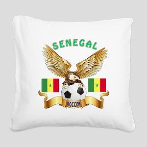 Senegal Football Design Square Canvas Pillow