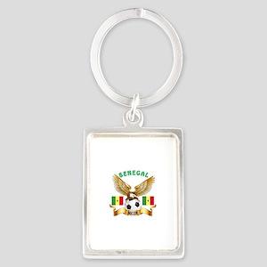 Senegal Football Design Portrait Keychain