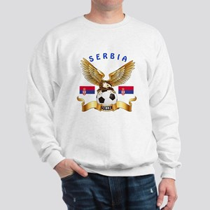 Serbia Football Design Sweatshirt