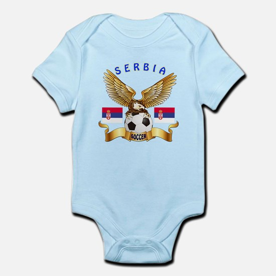 Serbia Football Design Infant Bodysuit