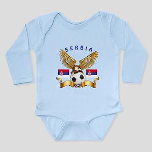 Serbia Football Design Long Sleeve Infant Bodysuit