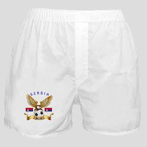 Serbia Football Design Boxer Shorts