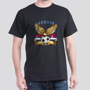 Serbia Football Design Dark T-Shirt