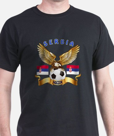 Serbia Football Design T-Shirt