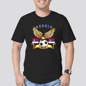 Serbia Football Design Men's Fitted T-Shirt (dark)