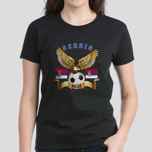 Serbia Football Design Women's Dark T-Shirt