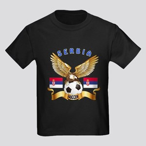 Serbia Football Design Kids Dark T-Shirt
