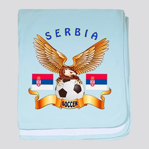 Serbia Football Design baby blanket