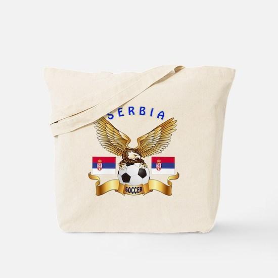 Serbia Football Design Tote Bag
