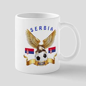 Serbia Football Design Mug