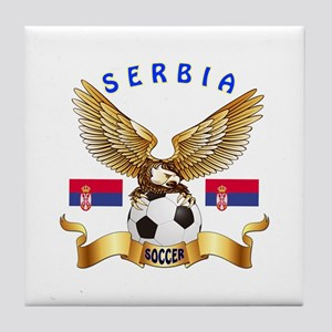 Serbia Football Design Tile Coaster
