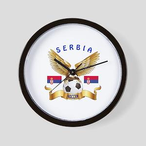 Serbia Football Design Wall Clock