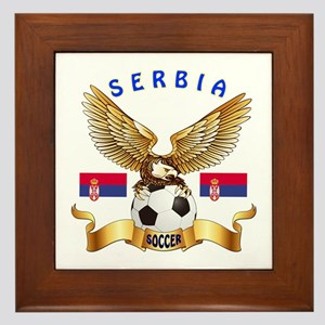 Serbia Football Design Framed Tile
