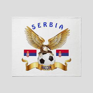 Serbia Football Design Throw Blanket
