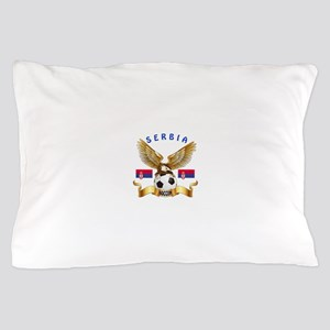 Serbia Football Design Pillow Case