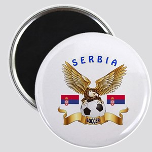 Serbia Football Design Magnet
