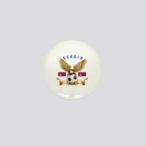Serbia Football Design Mini Button